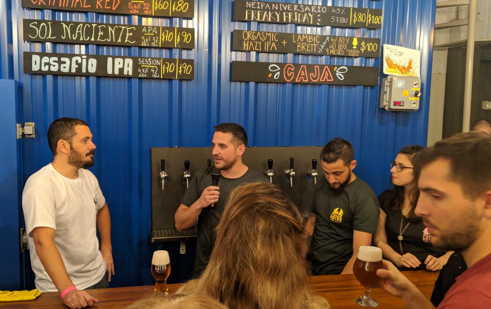 Cristian Meter - Brewmaster de Cerveza Guira durante los festejos por el octavo aniversario