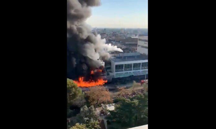 Incendio en Cervecería y Maltería Quilmes